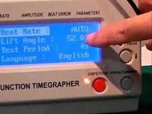 歩度測定器 ボタン操作