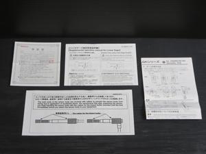 ミツトヨ リニアゲージ 取扱説明書