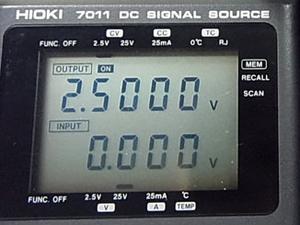 DCシグナルソース 通電正常